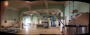 The kitchen at Alcatraz