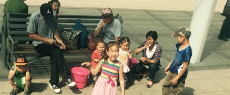 Mongolian Family at Station