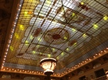 Interior skylight of the Metropole Hotel-Art Nouveau vintage similar to the Sheraton in SF