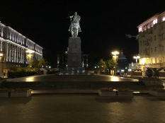One of many plaza areas of Moscow City Center