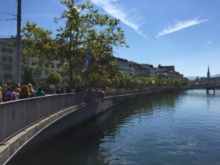 View along the Limmat River