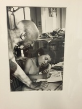 Picasso and Daughter Paloma, trying to make heads or tails of her father's artwork herself