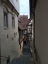 Steps along a steep grade