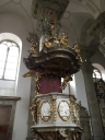 The pulpit, with gilded figures