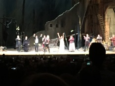 DmitriHvorostovsky receives yellow roses on stage