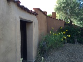 Adobe walls typical in all areas