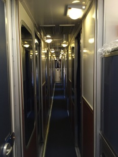 Amtrak Roomette Aisle