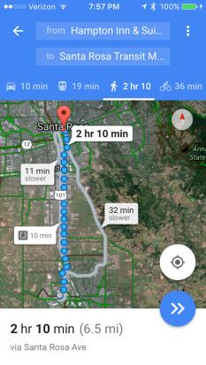 Rohnert Park to Santa Rosa