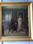 Goethe dictating to his secretary