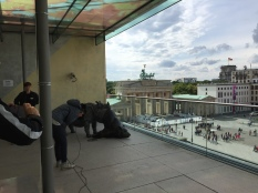View of Brandenburg Gate from Terrace, with 3D Viewer