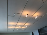 Lighting, mounted to ceiling in one assemly