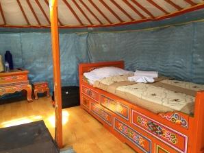 Bed inside Ger