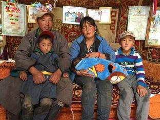 Mongolian Herder Family