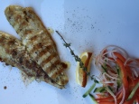 Grilled Sea Bass with Salad