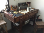 Artist's tools and workspace are works of art too!