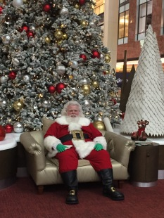Santa at Westfield, the reigning king of Capitalism