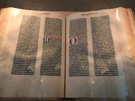 One of Three Perfect Gutenberg Bibles