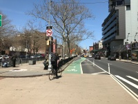 Bike lanes in NYC?!? This new street striping made me think of Berlin. Pedestrians: get cross-training!