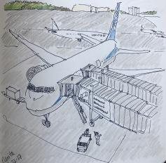 Plane Prep at Narita