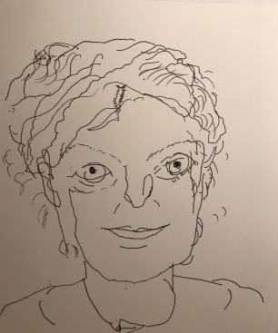 Semi-Blind Contour Drawing