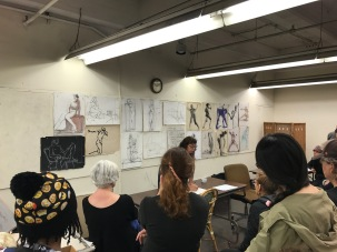 Art class and Instructor Diane Olivier
