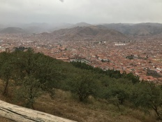 View of Cusco below