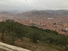 View of Cusco below