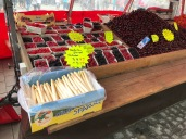 Spargel, or Asparagus, still in the market for 5 Euros a half kilo